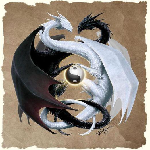 yin-yan-Drachen